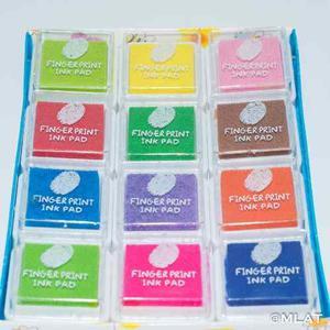 Tinta Para Sellos X 12 Colores. Árbol De La Vida !!