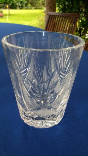 Hielera de cristal tallado