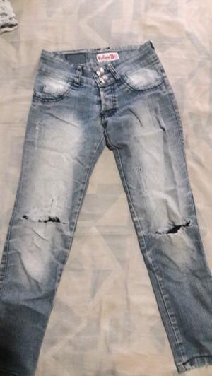 Jeans de nena elastizado