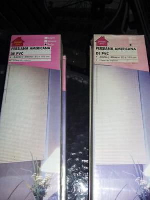 PERSIANA AMERICANA DE PVC SIN USO