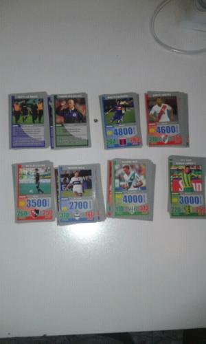 Vendo lote de 132 tarjetones diferentes de fútbol