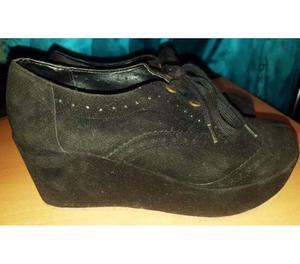 Zapatillas de Mujer con Plataforma de Gamuza