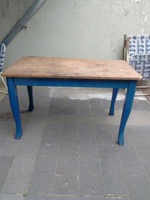 vendo mesa rectangular madera antigua muy buena un regalo!!