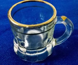 6 Antiguos Mini Pocillos de Vidrio, café a la turca o