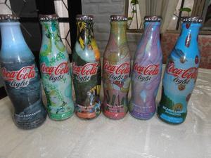 6 Botellas De Coca Cola De Coleccion De 237 Cm Cubicos