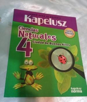 LIBRO CIENCIAS NATURALES 4 KAPELUSZ - EDICION