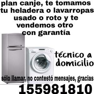 Lavarropa automático y heladeras