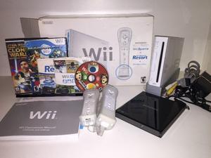 NINTENDO Wii EN CAJA ORIGINAL COMPLETA MUY BUEN ESTADO