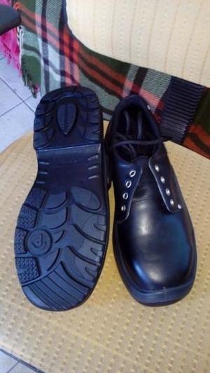Zapatos de Seguridad Negros Nº 42, t/Pampero