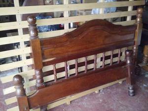 cama de algarrobo de 2 plazas