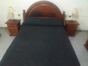 Juego de Dormitorio de Algarrobo de 2 plazas
