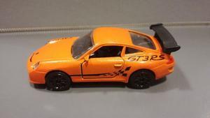 OFERTA ! Porsche 911 Gt3 Naranja Majorette 1/64 Originales !
