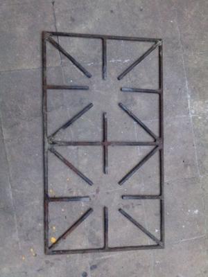 Rejilla de hierro macizo para anafe de cocina industrial
