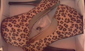 Zapatos con Plataformas y taco aguja $600