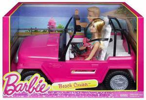 Barbie Con Ken Jeep Auto De Playa Original Mattel