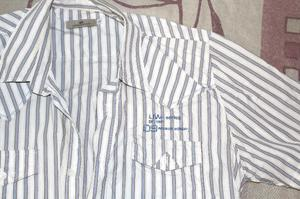 Camisa Unnowear Blanca a Rayas L