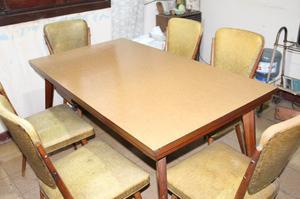Juego de comedor de Guatambú mesa y 6 sillas Liquido