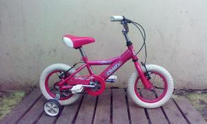 bicicleta olmo cosmos rosa rodado 12 de paseo con rueditas !