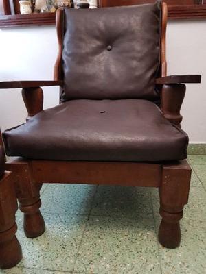 Juego Algarrobo completo: mesa, sillas, sillones