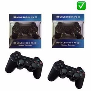 Combo De 2 Joystick Ps3 Dualshock 3 Bluetooth Cable S/cargo