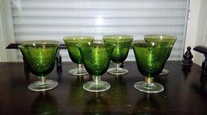 Copas De Cristal Verdes Antiguas X Todas