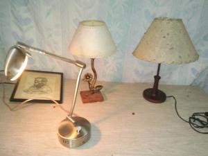 Veladores y lámpara dicroica