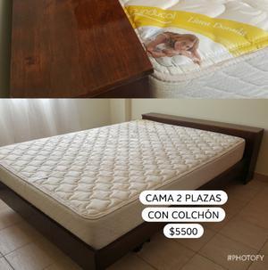Vendo cama 2 plazas con colchón
