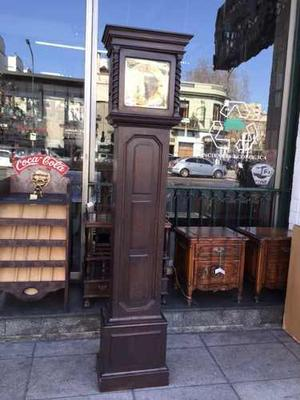 Antiguo Reloj De Pie Carrillon De Roble