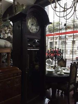 Antiguo Reloj De Pie Medio Carrillon Impecable Estado