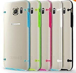 Funda Tpu Borde Color Galaxy S6 S6 Edge S5 S4 Plus Note 4 5