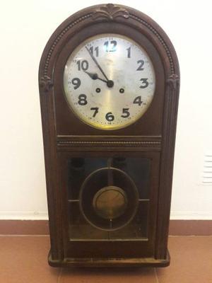 Reloj De Pared A Pendulo Antiguo Keninger Aleman Funcionando