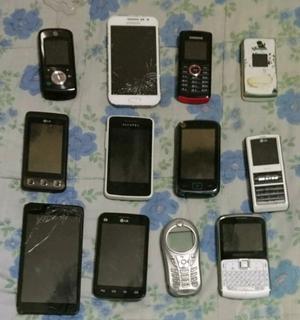Vendo lote de celulares y cargadores