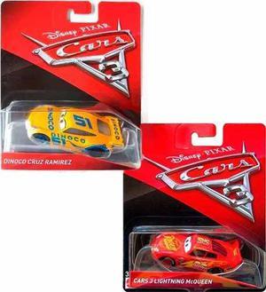 Cars 3 Cruz Ramirez Dinoco Mcqueen Combo Mattel Original