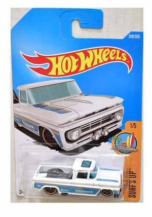 Hot Wheels Custom 62 Chevy Pickup  Blanca Solo Envios