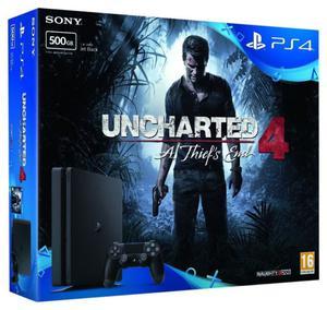 Playstation 4 slim 500 gb + Uncharted 4. Solo un mes de uso.