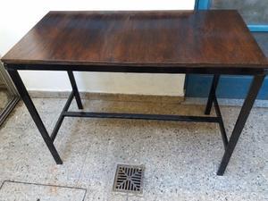 mesa de trabajo 120 x 60 x 90 hierro y madera