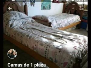 Juego dormitorio algarrobo camas salta posot class for Camas de 1 plaza baratas