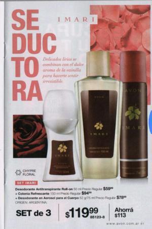 SET de 3 productos de perfumería Avon