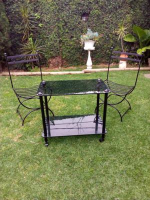 Sillon mesa y sillas hierro forjado posot class - Sillas de hierro ...