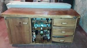 mueble rustico living/comedor