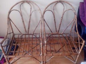 sillones de mimbre
