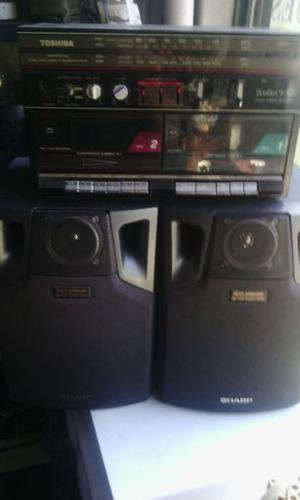 EQUIPO DE MUSICA Tohiba rbs 357 RADIO FM Y AM CASETT
