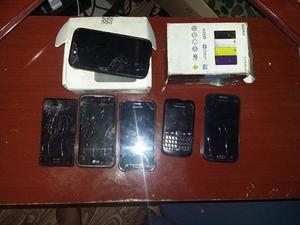 Lote de celulares para cambiar pantallas, modulos y revisar