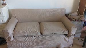 Sillon Sofá Usado Dos Cuerpos Con Funda
