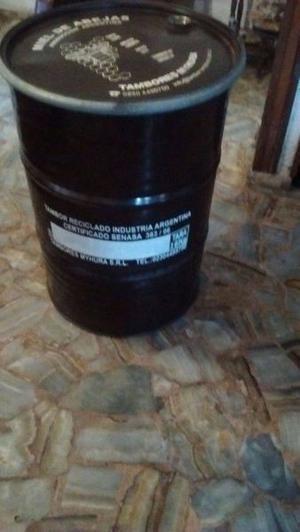 Tambor de miel de 300 kg con tapa y suncho