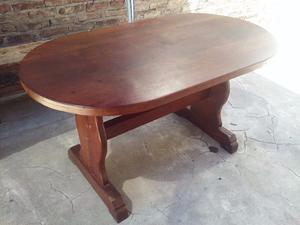 Mesa oval algarrobo 6 sillas gran la plata2 posot class for Mesa algarrobo precio