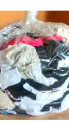 Bolsa de 15 kilos de retazos de tela variada en devoto