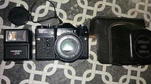 Camara Zenit 12 Xp Rusa Con Lente Y Flash Impecable
