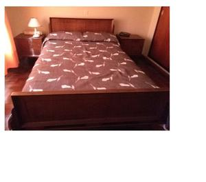 Juego de Dormitorio de 2 Plazas +2 Mesas De Luz + cómoda +