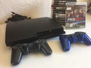 Líquido PS3 con 2 joysticks y 14 juegos